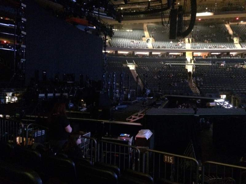 Seating view for Madison Square Garden Section 115 Row 6 Seat 15