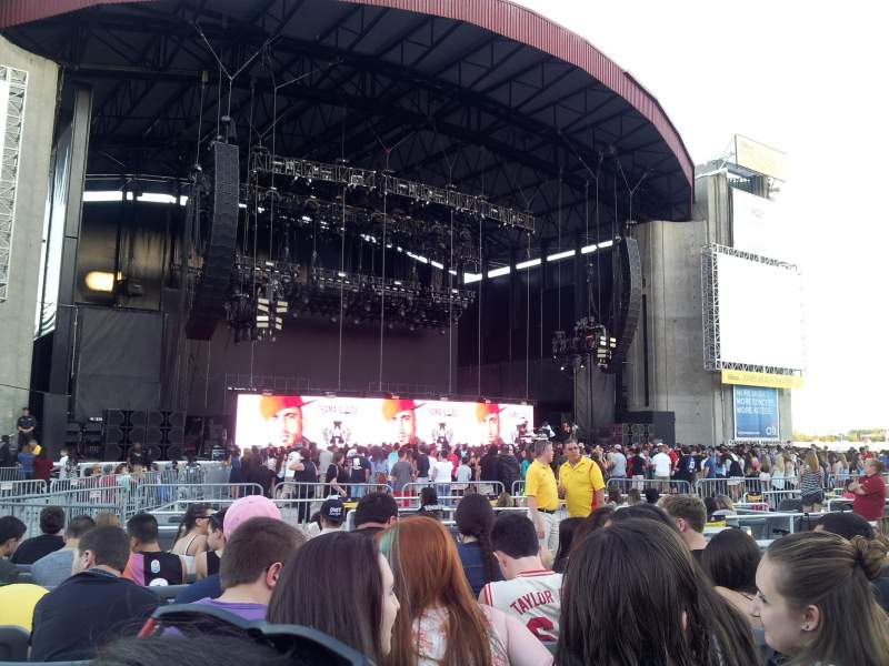 Seating view for Jones Beach Theater Section H Row KK Seat 5
