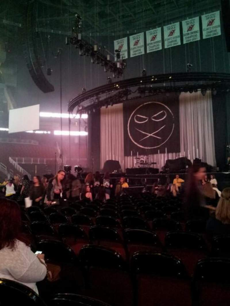 Seating view for Prudential Center Section A Row 20 Seat 12