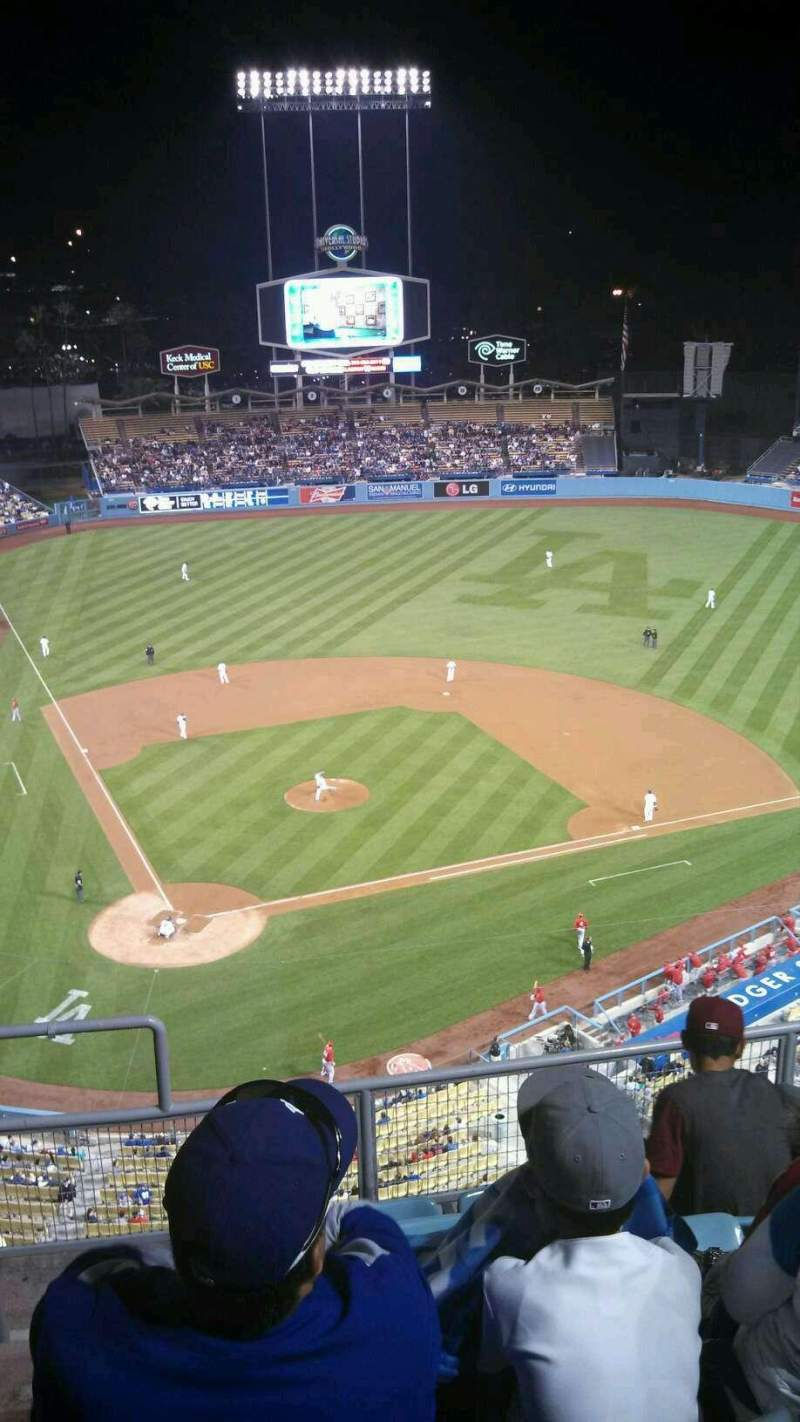 Seating view for Dodger Stadium Section 8TD Row F Seat 2
