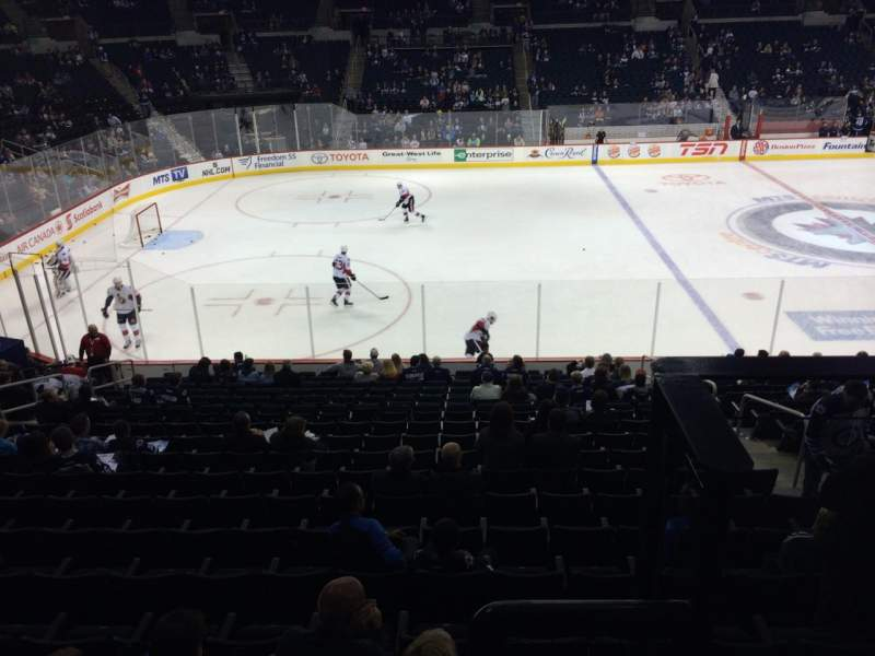 Seating view for Bell MTS Place Section 207 Row 2 Seat 10