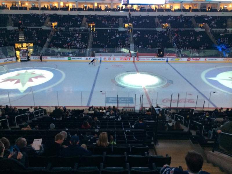 Seating view for Bell MTS Place Section 206 Row 7 Seat 10