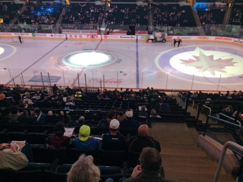 Seating view for Bell MTS Place Section 205 Row 7 Seat 10
