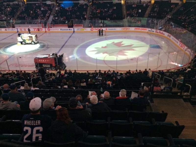 Seating view for MTS Centre Section 204 Row 7 Seat 12