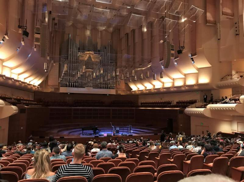 Seating view for Davies Symphony Hall Section uporch Row CC Seat 11