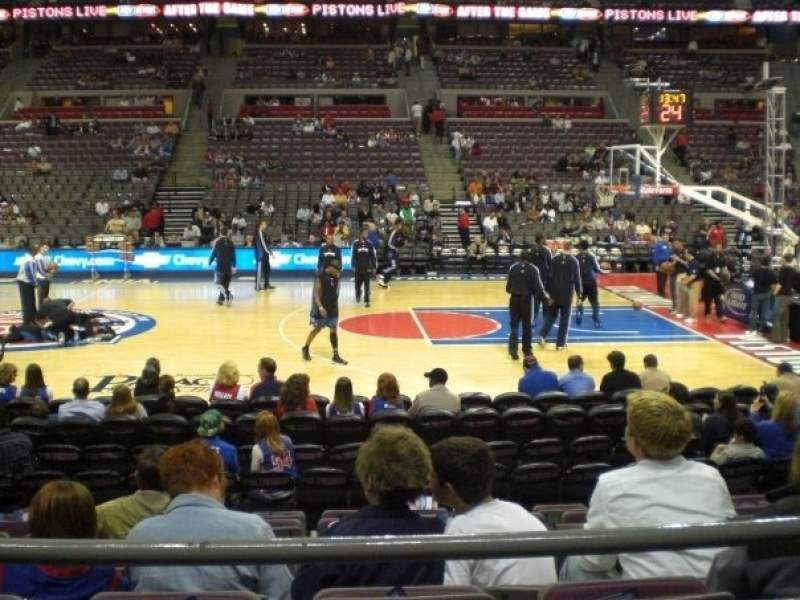 Seating view for The Palace of Auburn Hills Section 126 Row B Seat 10