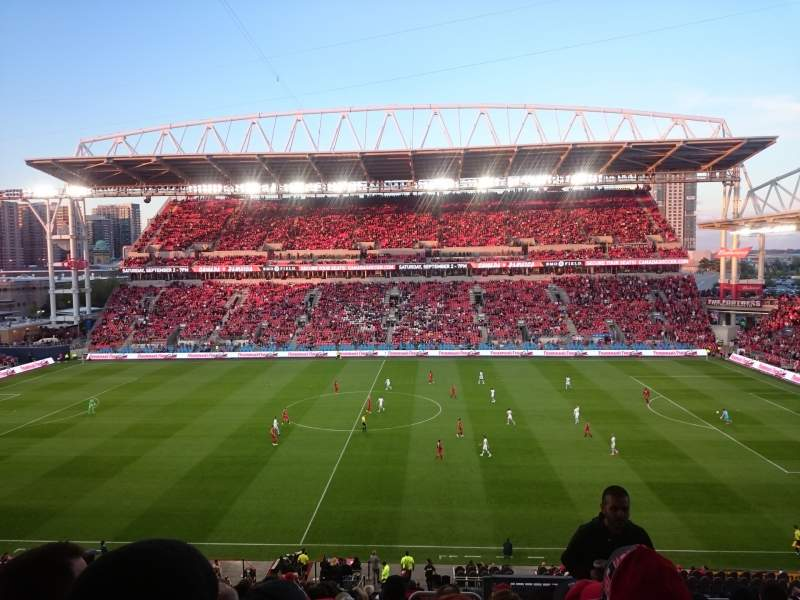 Seating view for BMO Field Section 223 Row 15 Seat 2