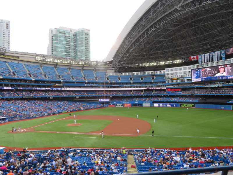 Seating view for Rogers Centre Section 217R Row 2 Seat 5
