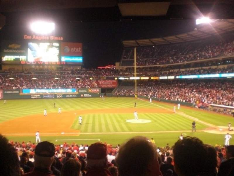 Seating view for Angel Stadium Section T211 Row G Seat 19