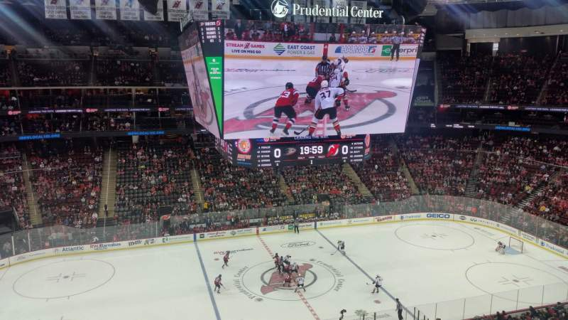 Seating view for Prudential Center Section 127 Row 2 Seat 4