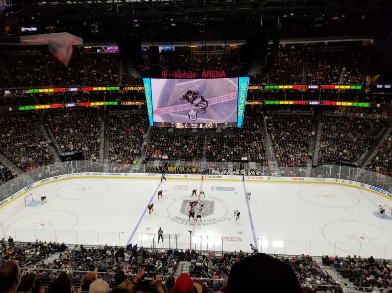 Seating view for T-Mobile Arena Section 223 Row G Seat 18