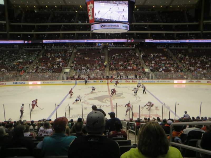 Seating view for Gila River Arena Section 112 Row S Seat 1