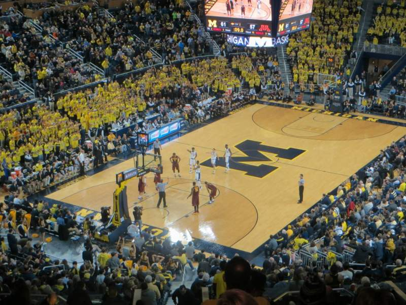 Seating view for Crisler Center Section 211 Row 39 Seat 10