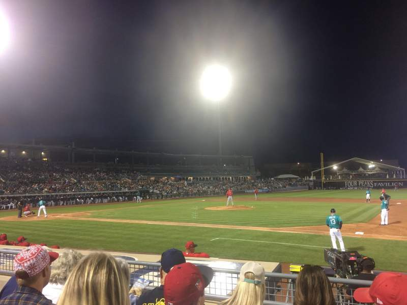 Seating view for Peoria Sports Complex Section 114 Row K Seat 9