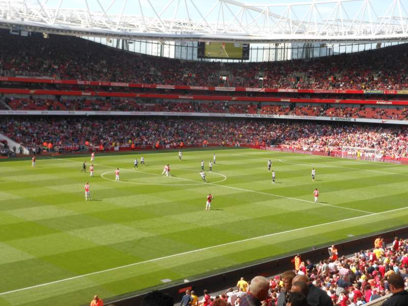 Seating view for Emirates Stadium Section B66 Row 8 Seat 577