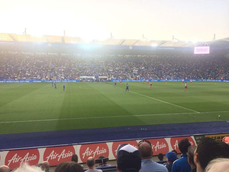 Seating view for King Power Stadium Section J1 Row G Seat 195
