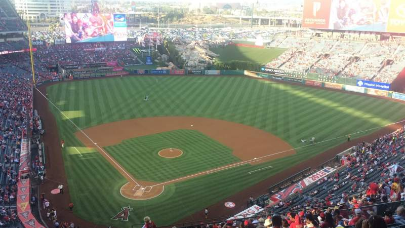 Seating view for Angel Stadium Section MVP 523 Row P Seat 7