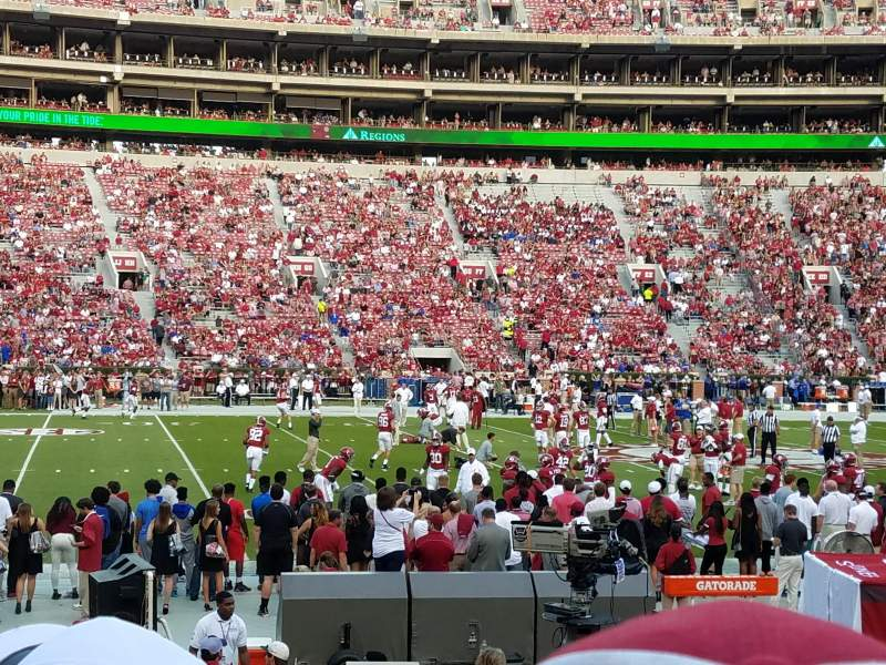 Bryant-Denny Stadium, section: J, row: 13, seat: 7 and 8