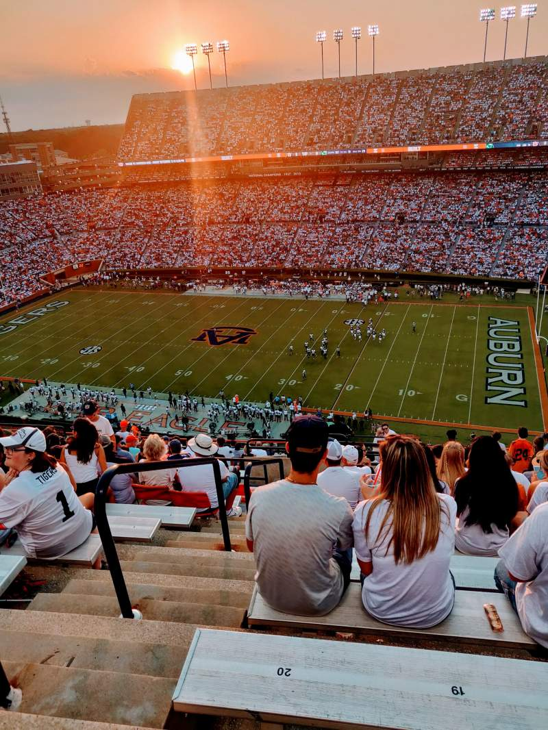 Seating view for Jordan-Hare Stadium Section 111 Row 21 Seat 20