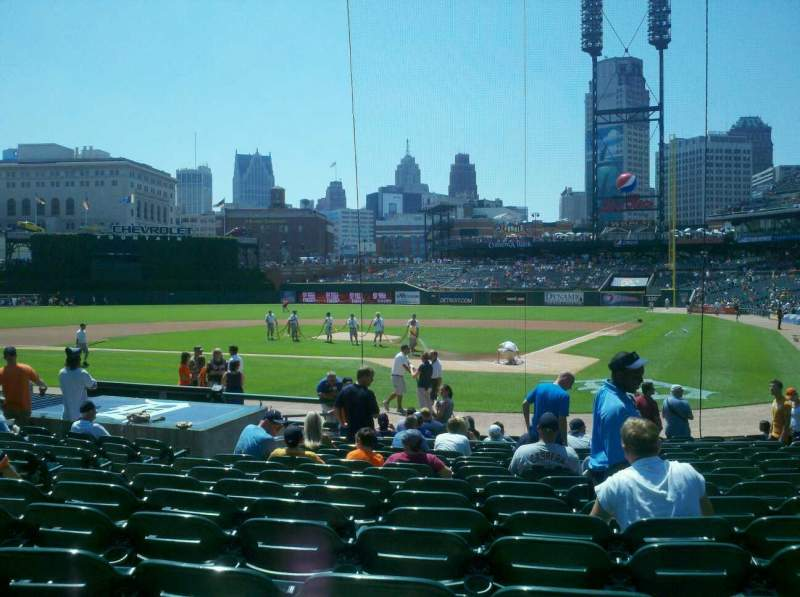 Seating view for Comerica Park Section 130 Row 18 Seat 7