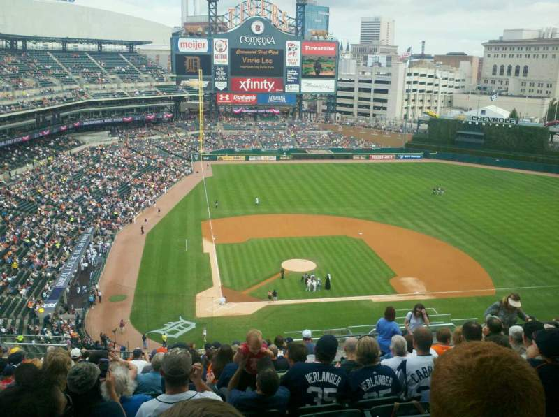 Seating view for Comerica Park Section 324 Row 18 Seat 10