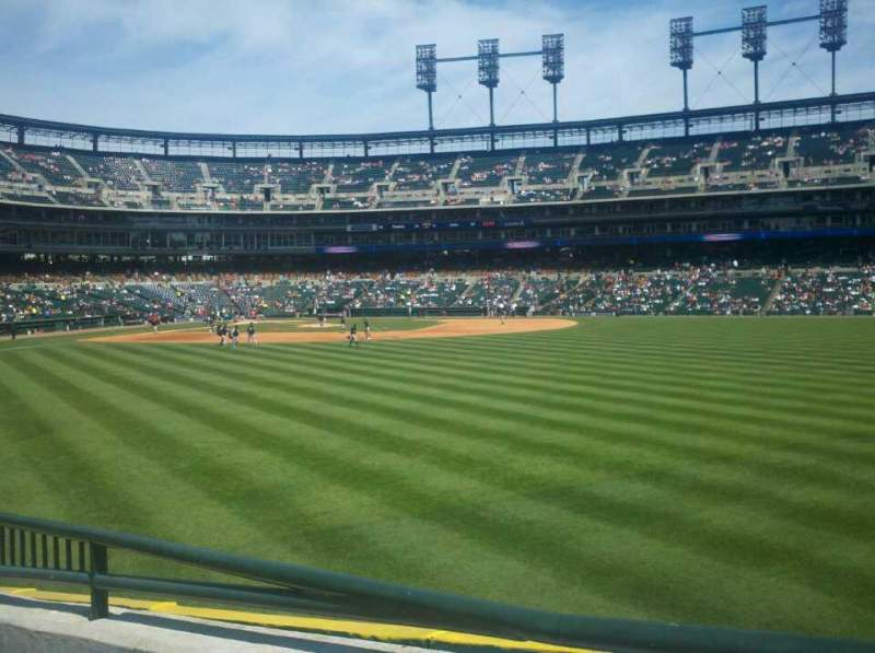 Seating view for Comerica Park Section 103 Row F Seat 4