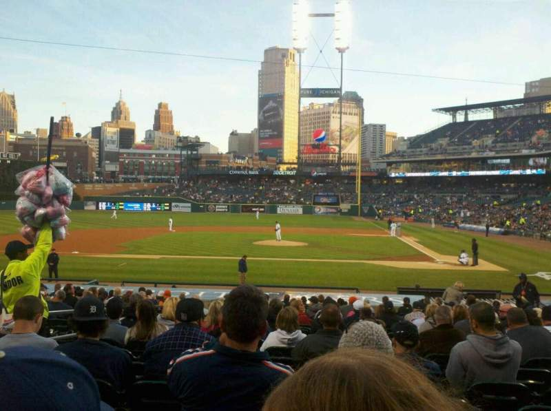 Seating view for Comerica Park Section 132 Row 27 Seat 1q