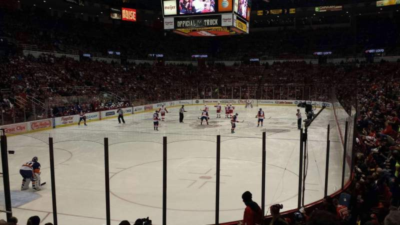 Seating view for Joe Louis Arena Section 113 Row 10 Seat 5