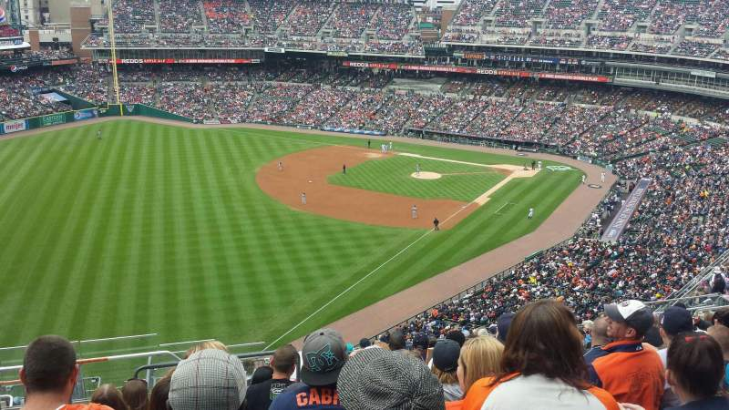 Seating view for Comerica Park Section 343 Row 14 Seat 23