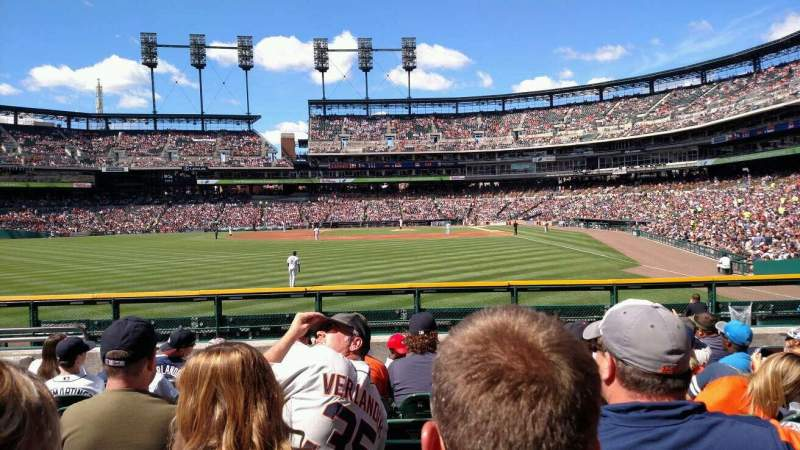 Seating view for Comerica Park Section 147 Row H Seat 18