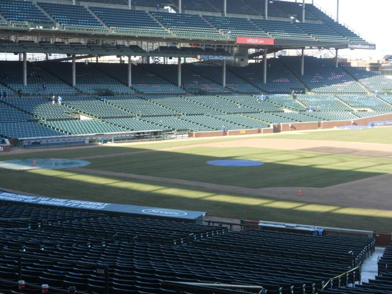 Seating view for Wrigley Field Section 233 Row 11 Seat 09