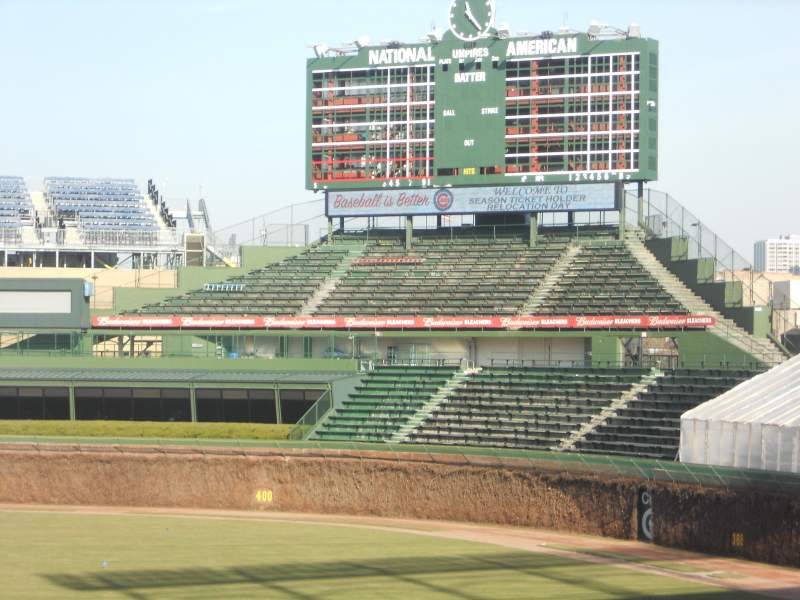 Seating view for Wrigley Field Section OF Terrace Reserved Row 233 Seat 9