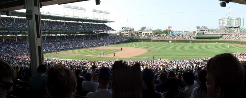 Seating view for Wrigley Field Section 233 Row 11 Seat 10