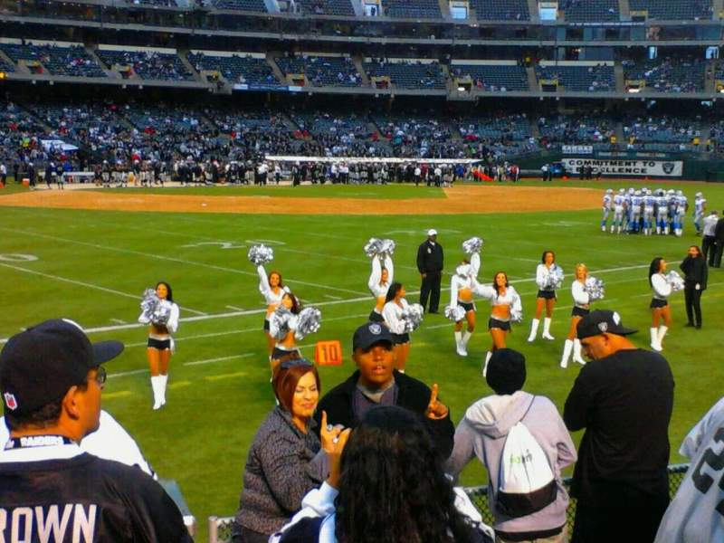 Seating view for Oakland Alameda Coliseum Section 149 Row 6 Seat 5