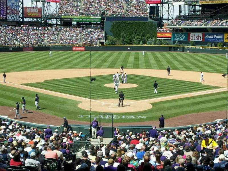 Seating view for Coors Field Section 130 Row 30 Seat 19
