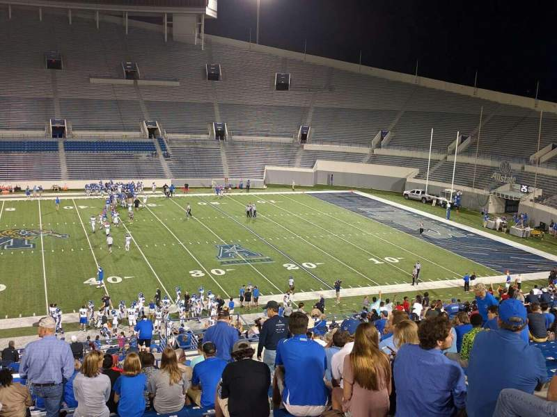 Seating view for Liberty Bowl Memorial Stadium Section 104 Row 50 Seat 10