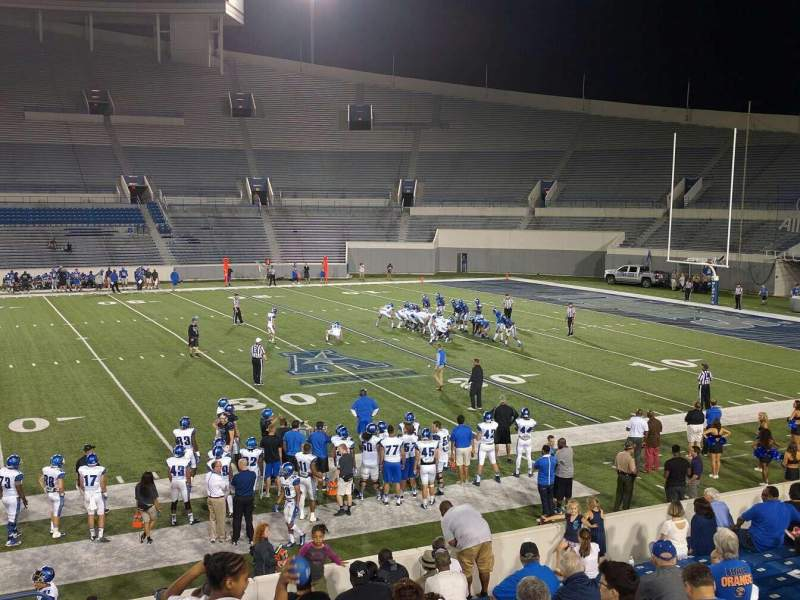 Seating view for Liberty Bowl Memorial Stadium Section 104 Row 20 Seat 1