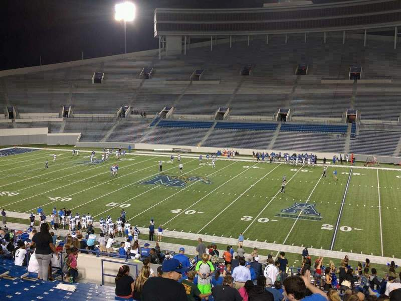 Seating view for Liberty Bowl Memorial Stadium Section 103 Row 50 Seat 10