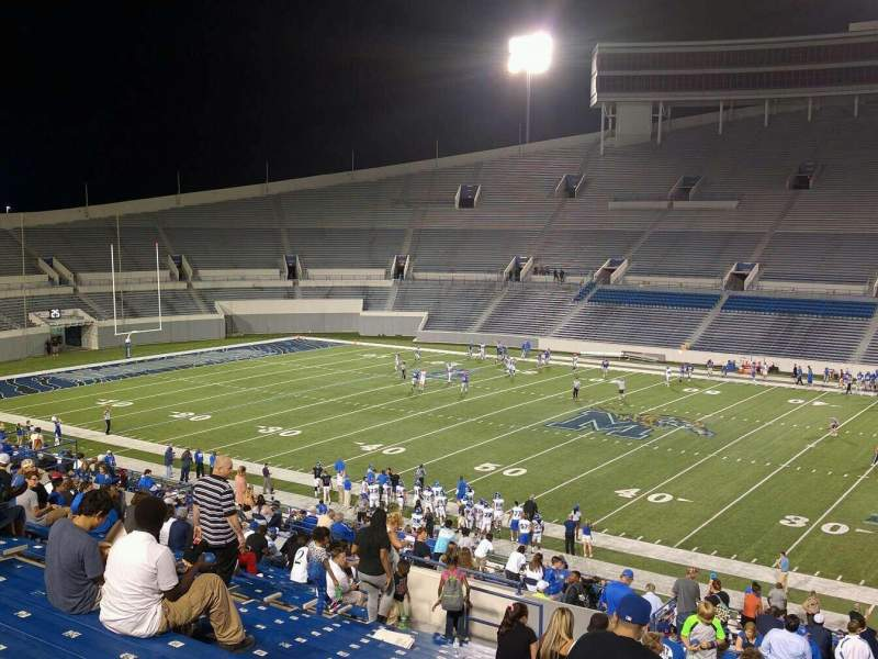 Seating view for Liberty Bowl Memorial Stadium Section 102 Row 50 Seat 10