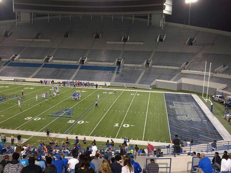 Seating view for Liberty Bowl Memorial Stadium Section 101 Row 50 Seat 10