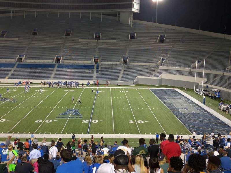 Seating view for Liberty Bowl Memorial Stadium Section 105 Row 50 Seat 10