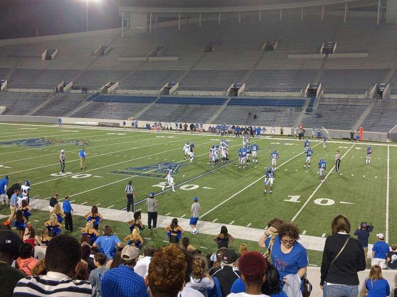 Seating view for Liberty Bowl Memorial Stadium Section 101 Row 20 Seat 01