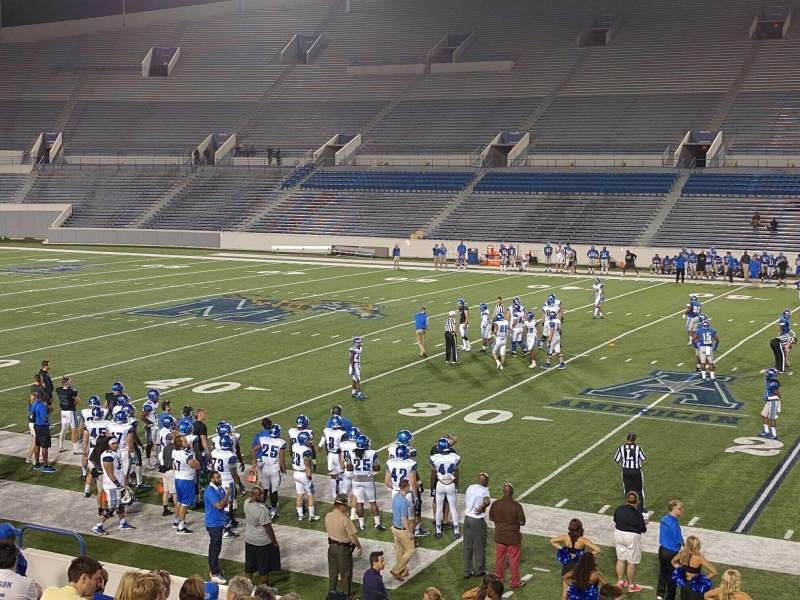Seating view for Liberty Bowl Memorial Stadium Section 102 Row 20 Seat 1