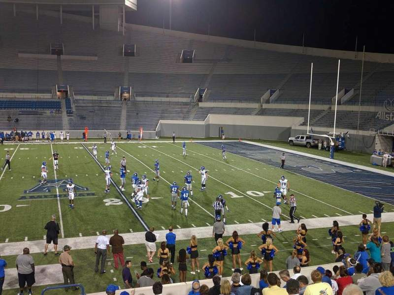 Seating view for Liberty Bowl Memorial Stadium Section 103 Row 20 Seat 10