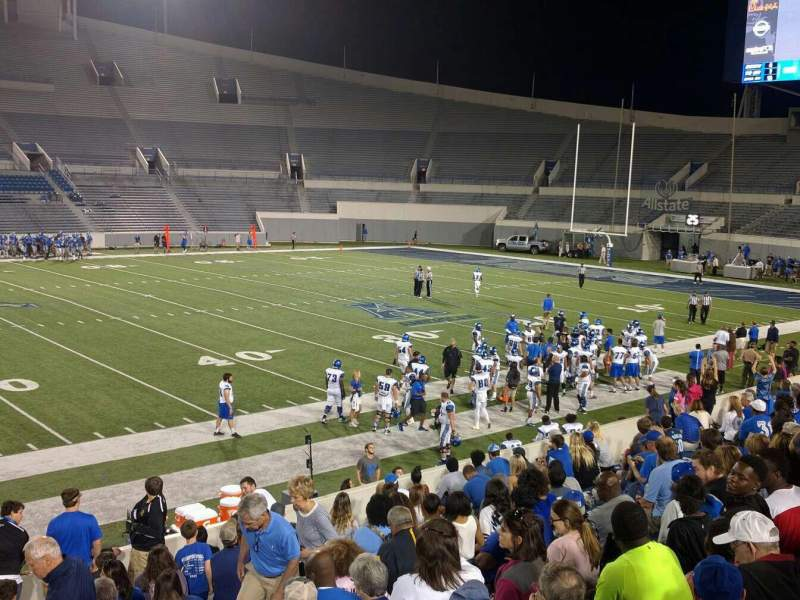 Seating view for Liberty Bowl Memorial Stadium Section 105 Row 20 Seat 01