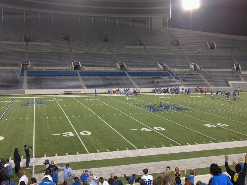 Seating view for Liberty Bowl Memorial Stadium Section 106 Row 20 Seat 01