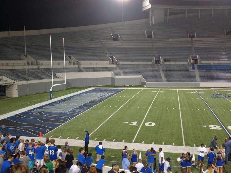 Seating view for Liberty Bowl Memorial Stadium Section 107 Row 20 Seat 01