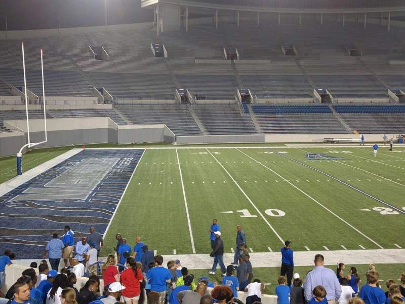 Seating view for Liberty Bowl Memorial Stadium Section 108 Row 20 Seat 01