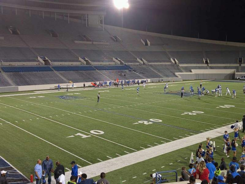 Seating view for Liberty Bowl Memorial Stadium Section 109 Row 20 Seat 01