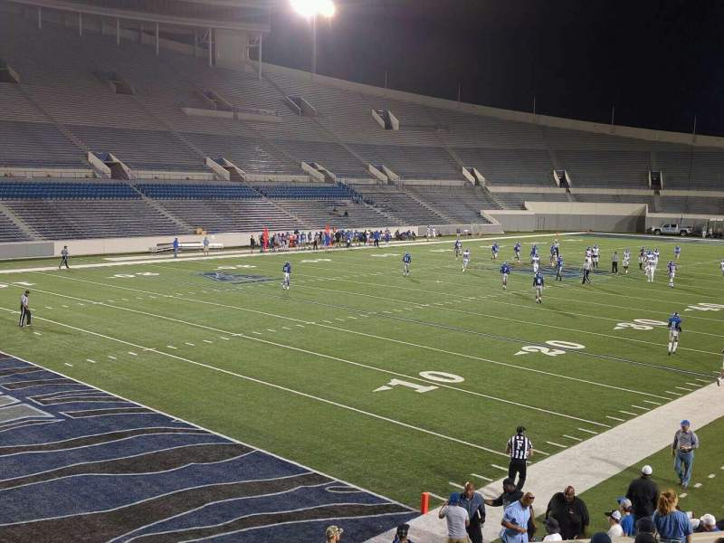 Seating view for Liberty Bowl Memorial Stadium Section 110 Row 20 Seat 01